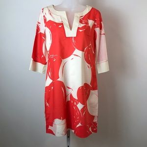 J Crew Red and Ivory Cherry Print Dress 4